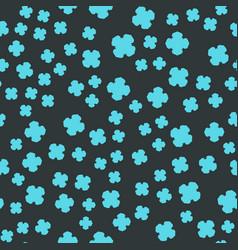 Azure clover seamles print vector