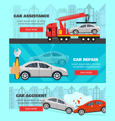 banner set about car vector image