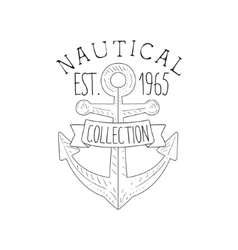 Boat Anchor Vintage Sea And Nautical Symbol Hand vector image vector image