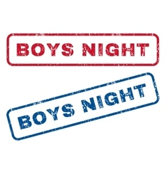 Boys night rubber stamps vector