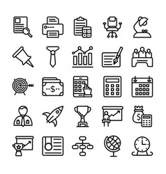 business and office line icons 13 vector image