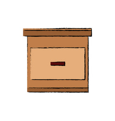 cabinet drawers handle wooden office organization vector image