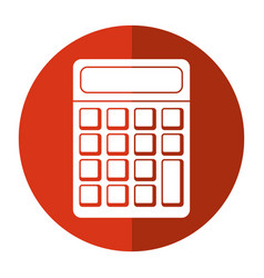 calculator math school shadow vector image