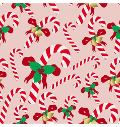 Christmas red and white sweets stick seamless vector