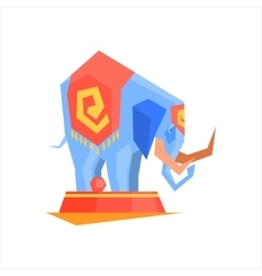 Circus trained elephant vector