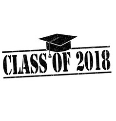 class of 2017 stamp vector image vector image