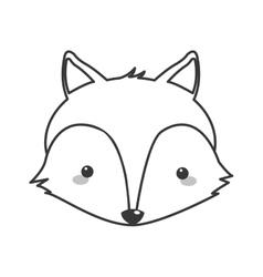 Cute fox cartoon icon vector