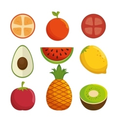 Delicious fresh fruit healthy icon vector