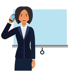 entrepreneur woman businesswoman cartoon flat vector image