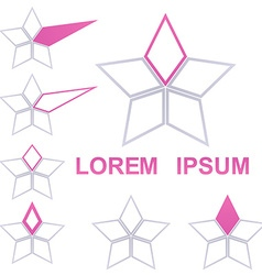 Geometric star logo set vector