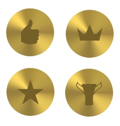 Golden insania icons vector image vector image