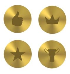 Golden insania icons vector image