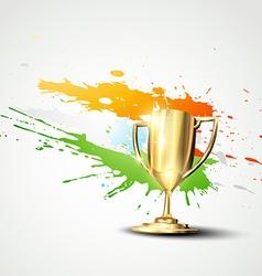 Golden trophy background vector