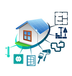 House construction concept vector