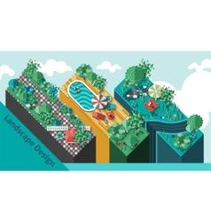 Landscape Design Concept vector image