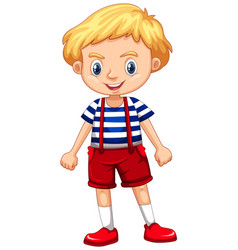 Little boy with blond hair vector