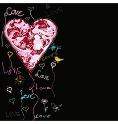 Magic Flying Heart Shape vector image vector image