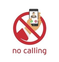 No calling icon vector