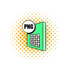 Png file icon in comics style vector