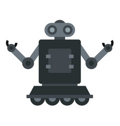 Robot on wheels icon isolated vector
