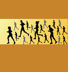 Runner silhouette jogging vector