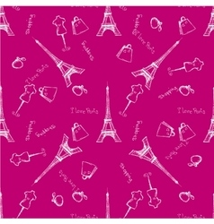 Seamless pattern Eiffel Tower vector image vector image