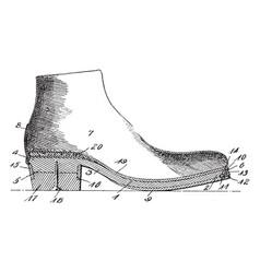 Single shoe vintage engraving vector