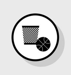 trash sign flat black icon vector image vector image