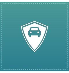 Vehicle shield flat icon vector