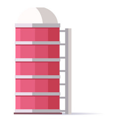 Water tower building for mobile applications vector