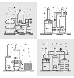 Boiler room equipment vector