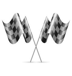 Checkered flags vector