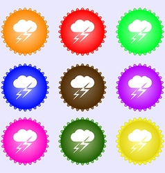 Weather icon sign Big set of colorful diverse vector image