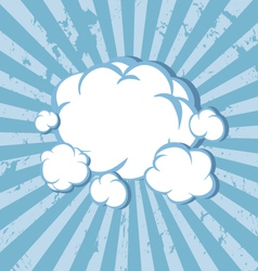 Clouds comic book background vector