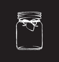 Black and white jam jar vector