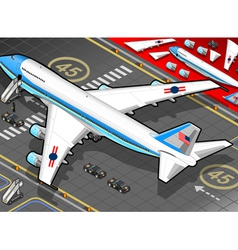 Isometric air force one in rear view vector