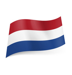 National flag of netherlands red white and blue vector