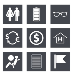 Icons for Web Design set 47 vector image