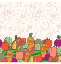 Decorative vegetables background vector