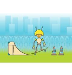 comic robot vector image