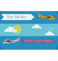 Airplane banner vehicle 2d vector