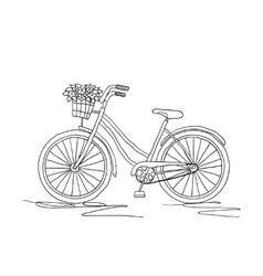 Retro bicycle on a white background vector
