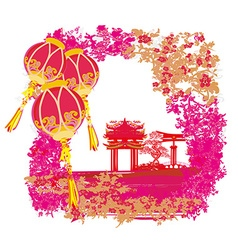 Mid-autumn festival for chinese new year vector