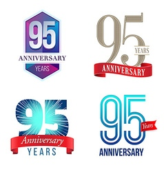 95 years anniversary symbol vector