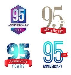 95 years anniversary symbol vector