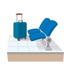 Airport seats cartoon icon vector