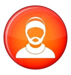 Bearded man avatar icon flat style vector