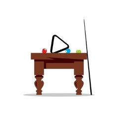 Billiard Table Cartoon vector image vector image