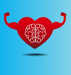Brain and heart concept getting healthy vector