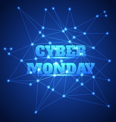 Cyber monday sale background vector image vector image